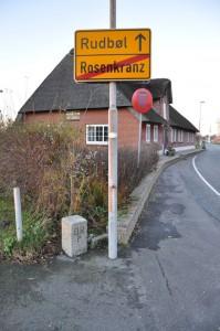 Hjørnet af Anton Nielsens grund, her ligger grænsen