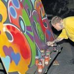 Graffiti skilt Borgen