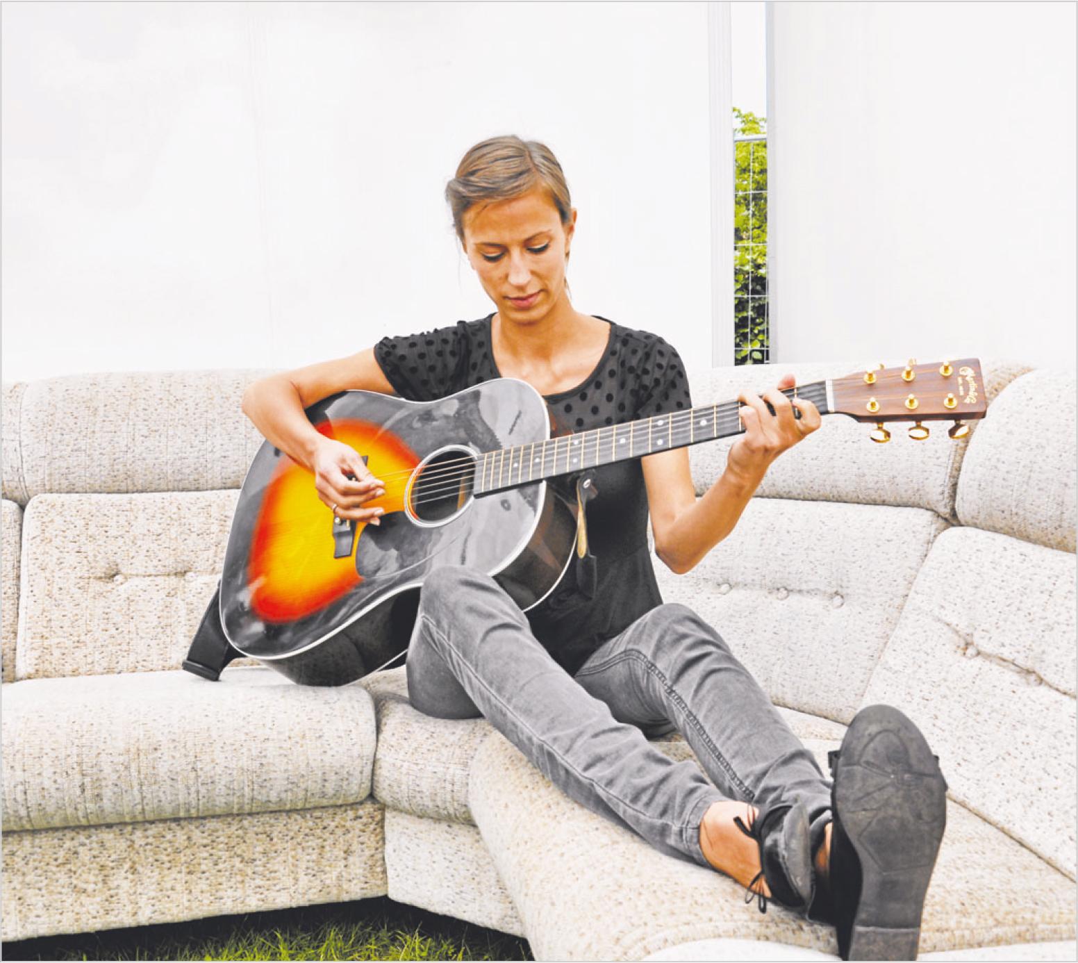 Mathildes første gang som musiker på Kløften